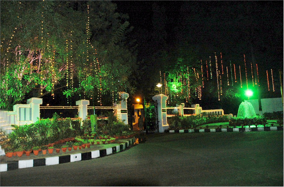 Raj Bhavan Chennai Illuminated Main Gate